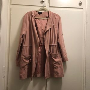 Faux Suede Jacket - Blush / Mauve
